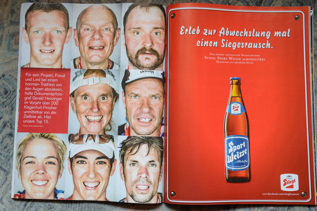 "The Austrian magazine ""SportMagazin"" publishes the IRONFACES."