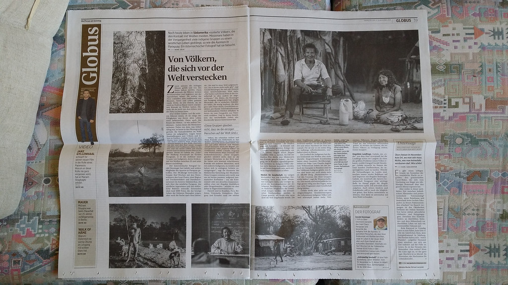 "2014-11: ""Die Presse"" publishes a feature about the Ayoreos in Paraguay"
