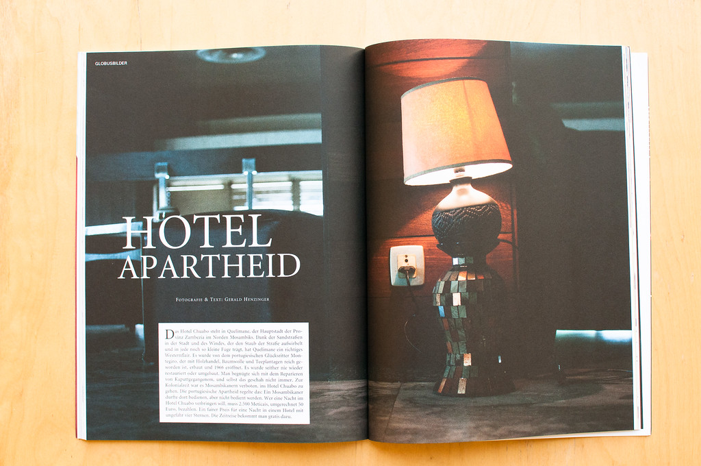 The Austrian Magazine DATUM published eight pictures of the Hotel Chuabo in Quelimane.  http://www.datum.at/artikel/hotel-apartheid/