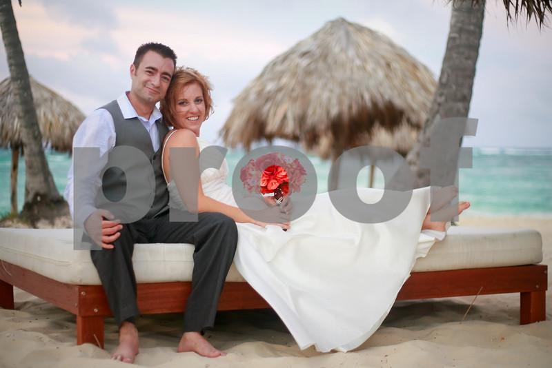 Bride & groom. Punta Cana, Dominican Republic, 09/05/09