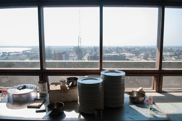 Hotel Chuabo in Quelimane, top floor kitchen.