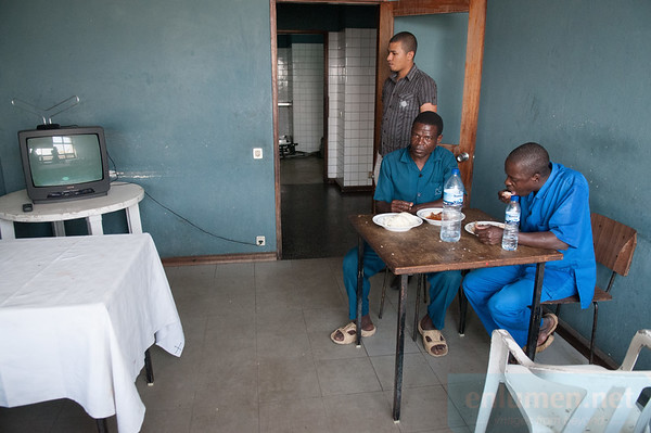 Hotel Chuabo in Quelimane, cleaning staff during their break.