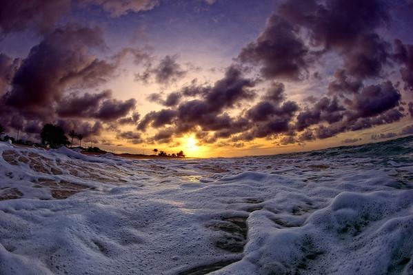 sandy beach, Oahu, Hawaii