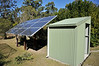 new solar panels, with the new battery and electronics shed