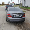 2010 Mercedes c63 Dark satin grey by SkinzWraps in Dallas, Texas