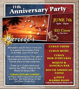 Mercede's Grille 11 Year Anniversary. 14 Washington Blvd Marina Del Rey, CA 90292. http://www.mercedesgrille.com 310. 577.0035