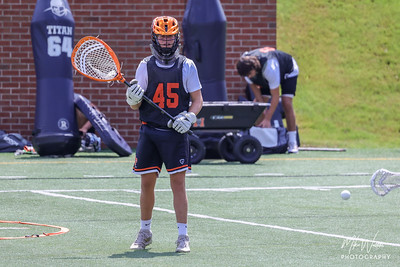Aug 7, 2021; Macon, GA, USA; Athletes compete during Mercer University Lacrosse prospect day at Mercer University Five Star Field. Mandatory Credit: Mike Watters