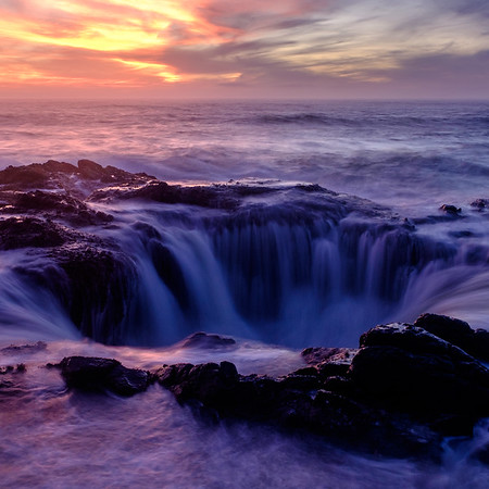 Coaster - Thor's Well at sunset