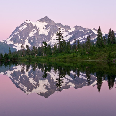 Coaster - Mt. Shuksan with Pink Glow