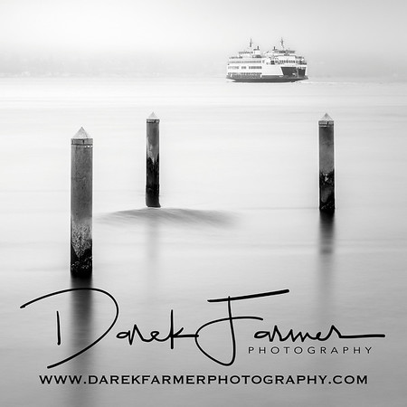 Coaster - Mukilteo Ferry Black & White