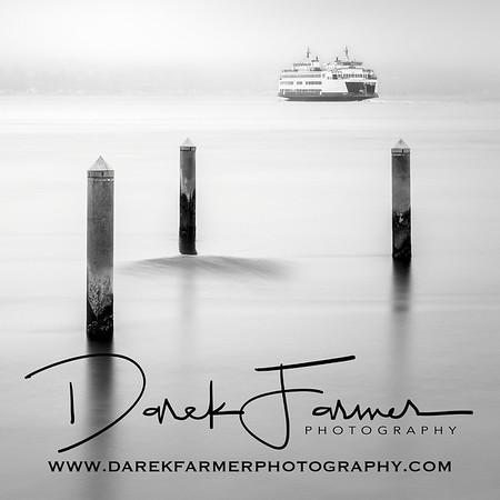 Coaster - Mukilteo Ferry Black & White