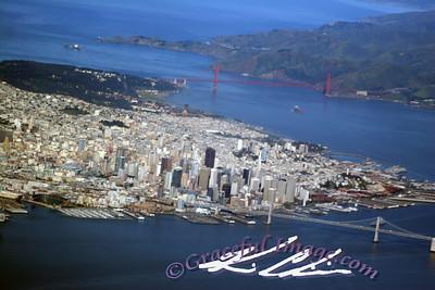 Ariel view of San Francisco