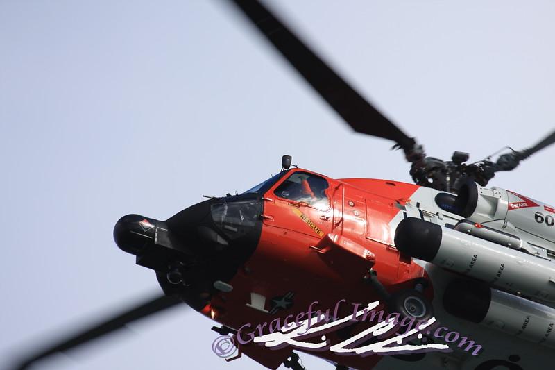 HH-60 Jayhawk flys overhead
