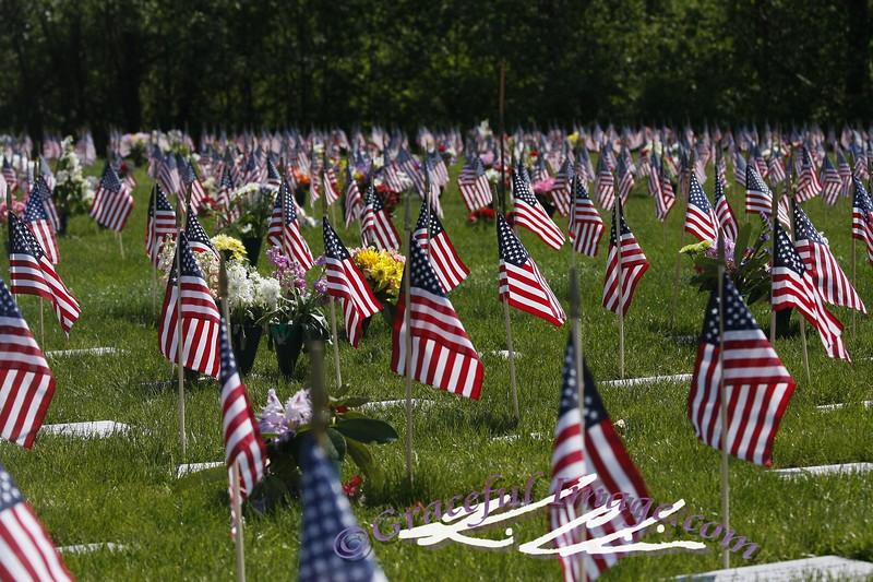 Memorial day at Tahoma National Cemetery