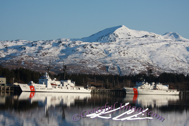 USCGC MELLON (WHEC-717) & The Coast Guard Cutter Alex Haley in Kodiak, AK