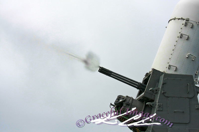 CWIS fires 20mm rounds at a drone.