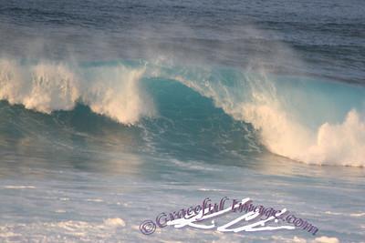 Waves of Pacific Ocean
