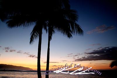 Sunset over Northbeach Hawaii