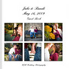 Hardback exterior of Jake & Randi's Wedding Guest Book Album