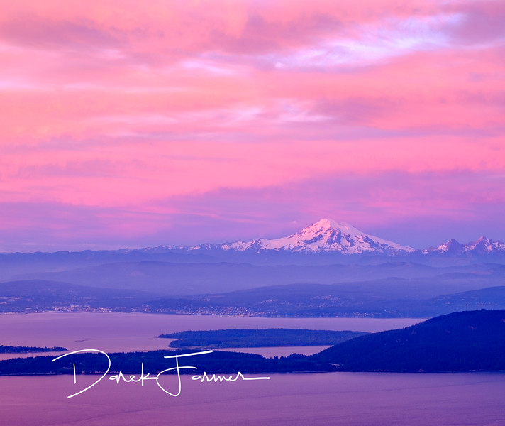 Mouse Pad - Mt. Baker at sunset from Mt. Constitution, Orcas Island