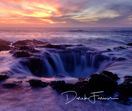 Mouse Pad - Thor's Well at sunset