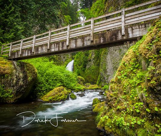 Mouse Pad - Wahclella Falls-Under the Bridge