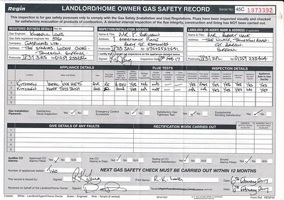 Gas Certificate + Keys May 2017