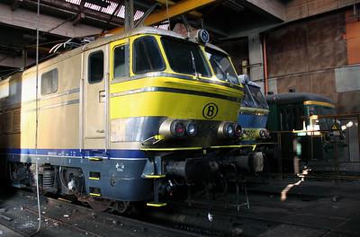 1608 at Schaarbeek Depot on 12th November 2011