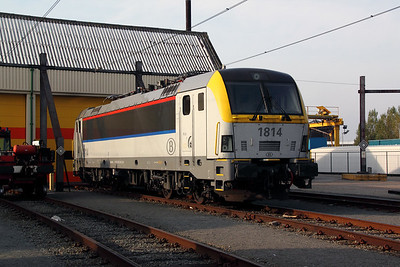 1814 at Oostende Depot on 12th November 2011