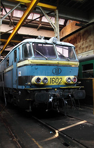 1602 at Schaarbeek Depot on 12th November 2011