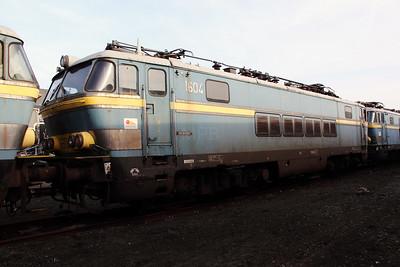 1) 1604 at Oostende Depot on 12th November 2011