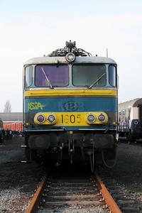 2) 1605 at Oostende Depot on 12th November 2011