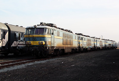 1601 at Oostende Depot on 12th November 2011