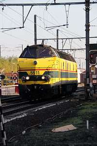 2) 5511 at Schaarbeek Depot on 12th November 2011