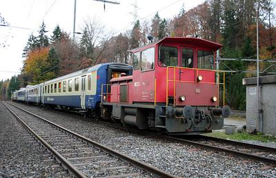 1) BLS, Tm 97 at Hondrich Sud Junction on 5th November 2005