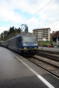 BLS, 465 018 at Moutier on 5th November 2005