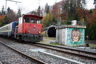 2) BLS, Tm 97 at Hondrich Sud Junction on 5th November 2005