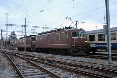 BLS, 163 at Spiez Depot on 5th November 2005