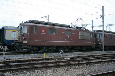 BLS, 161 at Spiez Depot on 5th November 2005