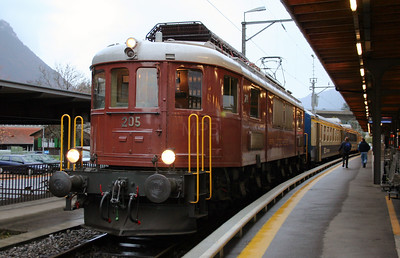 BLS, 205 at Interlaken Ost on 5th November 2005
