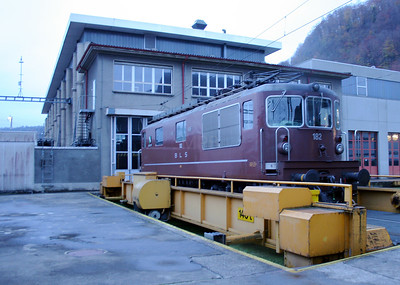 BLS, 182 at Spiez Depot on 5th November 2005