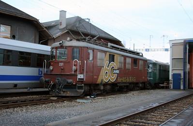 BLS, 251 at Spiez Depot on 5th November 2005