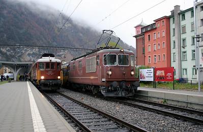BLS, 205 & 167 at Interlaken West on 5th November 2005