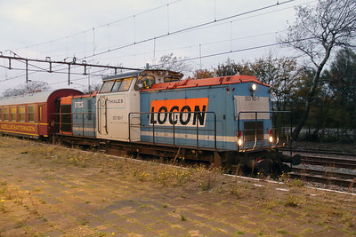4) Locon, 203 160 (92 80 1203 160-7 D-LBL) at Hoek Van Holland Haven on 24th Ocotber 2015 working Mercia Charters railtour