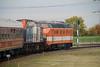 Locon, 9802 (92 84 2284 672-7 NL-LBL) departing Sloehaven Denemarkenweg on 24th Ocotber 2015 working Mercia Charters Railtour (6)