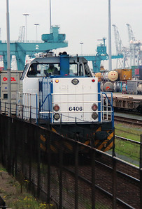 1) LTE, 6406 at RSC Rotterdam container terminal on 24th October 2015