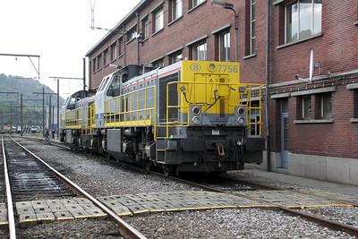 7756 at Kinkempois Depot on 5th September 2009