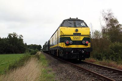 2) 5507 between Diest & Tessenderlo on 5th September 2009