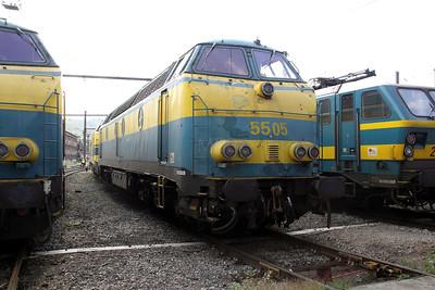 5505 at Kinkempois Depot on 5th September 2009