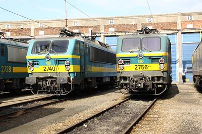 2740 & 2756 at Kinkempois Depot on 5th September 2009
